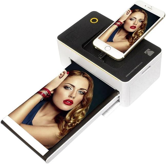 Kodak PD-450WE WiFi Negro Color Blanco Impresora de Foto - Impresora fotográfica (167 M 4 x 6 (10x15 cm) 1658 mm 100 mm 685 mm 760 g) negro blanco de tinta