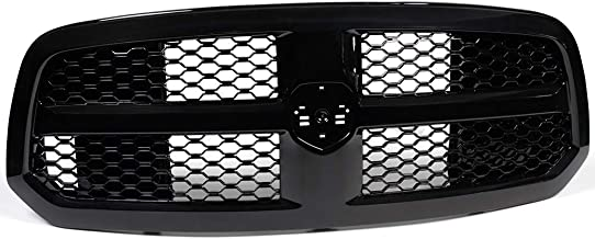 NEW Glossy Black Luxury Mesh OE Honeycomb Front Hood Bumper Grill Grille Cover ABS for Dodge Ram 1500 2013-2017 2014 2015 2016