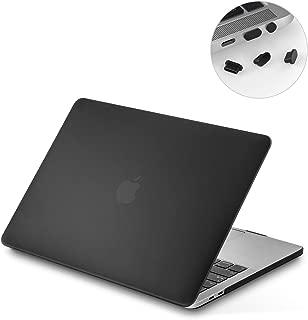 NEW 13インチMacBook Pro 2018 / 2019用 LENTION ハード ケース MacBook専用シェルカバー (マット・半透明・ブラック)