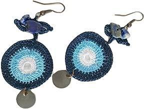 Crochet Evil Eye Earrings