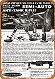 Forry Solothurn Anti-Tank Rifle Metall Poster Retro