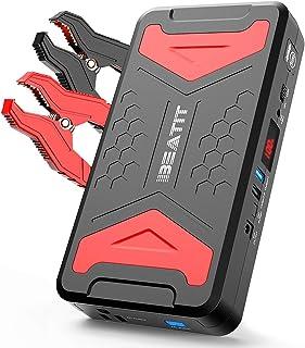 BEATIT QDSP 2200A Peak 21000mAh 12V اتومبیل قابل حمل لیتیوم پرش گاز استارت یا باتری باتری موتور دیزل 10L تقویت کننده تلفن پاور شارژر تلفن با کابل های جامپر هوشمند و اینورتر 110 ولت اینورتر BP101