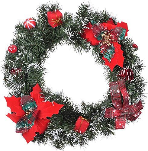 made2trade Traditioneller Weihnachtskranz mit Deko Elementen zum Aufhängen - 40cm