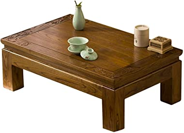 Coffee Tables Balcony Bay Window Table Tatami Coffee Table Elm Tea Short Table Living Room Tea Ceremony Low Table (Color : Br