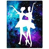 SXCHEN Blanket Sofa Bed Throw Lightweight Cozy Plush Ballet Beauty Dance Purple Galaxy Nebula 50'x60'