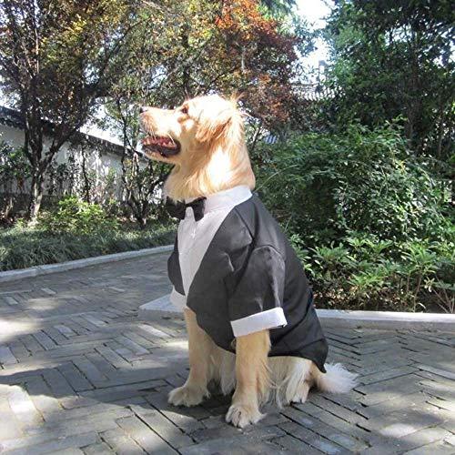VISTANIA Große Hunde Hochzeit Anzug Kleidung, Große Hund Tuxedo Kostüme Formale Party-Outfits, Fit Golden Retriever, Pitbull, Labrador, Samoyed,L