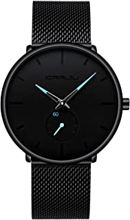 Mens Watch Ultra Thin Wrist Watches for Men Fashion...