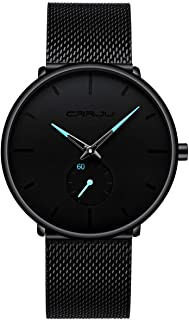 Mens Watches Ultra-Thin Minimalist Waterproof - Fashion...