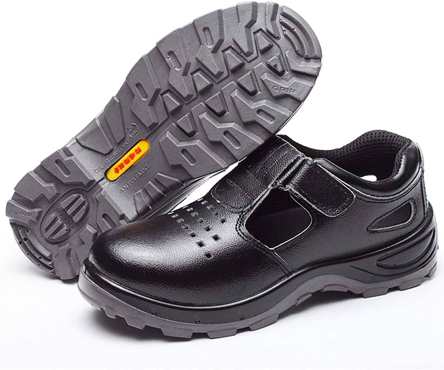 shoes Breathable safety work sandals, steel toe cap summer puncture predective tooling, non-slip wear-resistant hiking, suitable for construction sites, welding ZDDAB