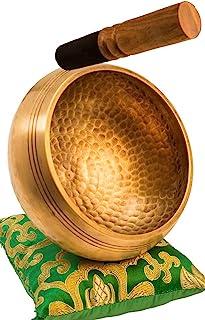 Tibetan Singing Bowl Set By YAK THERAPY- Chakras Healing & Meditation Yoga Sound Bowl with Mallet, Silk Cushion, & Silk Ba...