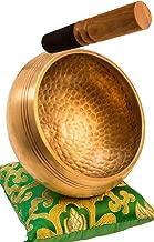 Tibetan Singing Bowl Set By YAK THERAPY- Chakras Healing & Meditation Yoga Sound Bowl with Mallet, Silk Cushion, Silk Bag, 4.5