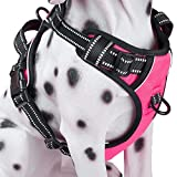 PoyPet No-Pull Dog Harness, Reflective Vest Harness with Front & Back 2 Leash...