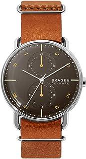 Skagen Horizont Men's Black Dial Leather Analog Watch - SKW6537