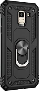 Case Compatible with Samsung Galaxy J6 2018 Cover Military Grade Rugged Shockproof Skin Magnetic Car Mount Case for Galaxy J6 Plus Phone Case (Black, Galaxy J6)