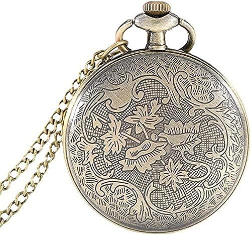 NC134 Collares Mujeres Hombres Reloj de Bolsillo Collar Amantes Regalo Reloj de Bolsillo Vintage Transparente Dial Romano Esfera de Cuarzo Colgante Collar Regalos