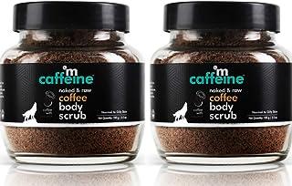mCaffeine Naked & Raw Coffee Body Scrub, Pack of 2 | Exfoliation, Tan Removal | Oily/Normal Skin | Paraben & SLS Free