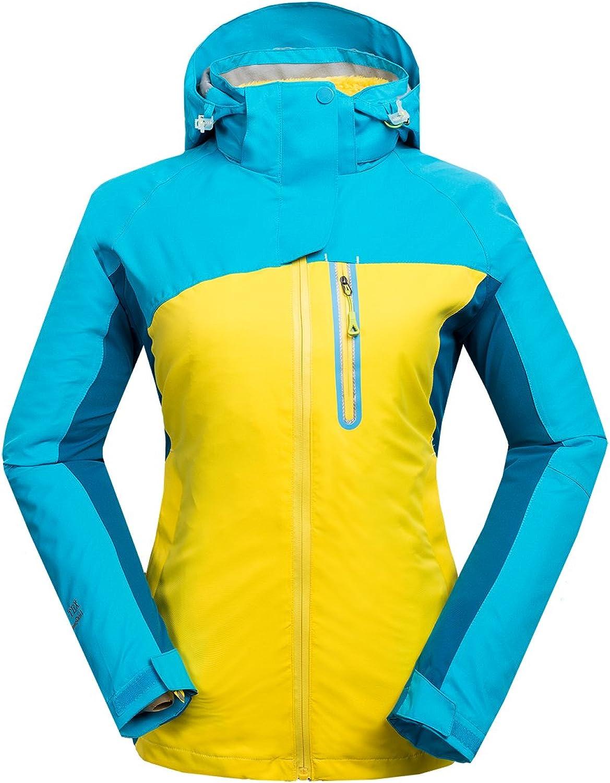 CIKRILAN Women's 3in1 Windproof Fleece Lined Jacket Lady Camping Hiking Outwear