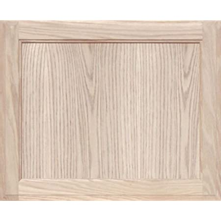 34H x 11W Unfinished Oak Square Flat Panel Cabinet Door by Kendor