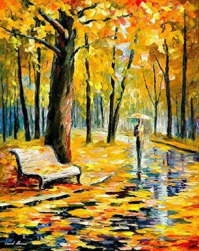 Paisaje Natural otoño árboles día lluvioso Puzzle 1000 Piezas para Adultos NiñOs Educativo Madera 75x50 CM Arte CláSicos Juego De Rompecabezas Adolescentes Infantil Toda La Familiar Regalos