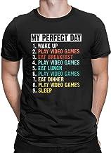 My Perfect Day پیراهن خنده دار بازی های ویدیویی Gamer Gift Tees برای مردان