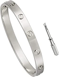 CA Love Bracelet Jewelry Bangle for Men and Women with Screwdriver