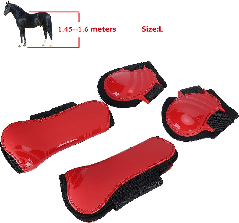 Fdit 1 Set Stivali di Sostegno del Cavallo Gambale Elastico Rinforzato Attrezzatura equestre Imbottitura Interna Imbottita per Protezione della Gamba del Cavallo in PU L