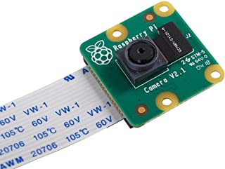 Raspberry Pi Camera Module V2 ラズベリーパイ カメラ ソニーIMX219PQ CMOS画像センサ 8メガピクセル Raspberry Pi 4、3B+、3B、Zero/Zero W、NVIDIA Jetson Na...