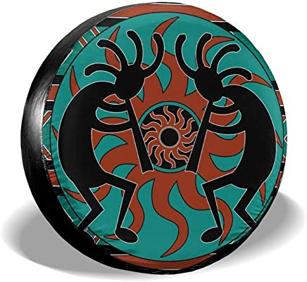 CHILL/·TEK The Colorful Sunflowers Spare Tire Cover Waterproof Universal Spare Wheel Tire Cover Fit for Jeep Trailer RV SUV and Many Vehicle 14 15 16 17