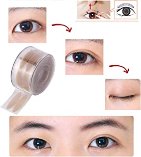 Beaupretty 600pcs Makeup Breathable Eyelid Tape Adhesive Invisible Double Eyelid Tape Stickers for Hooded, Droopy, Uneven, Mono-eyelids(Mesh Pattern L)