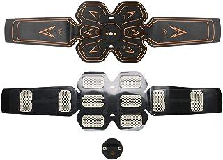 Uxsiya Cinturón de Fitness Abdominal Cinturón de apriete de músculos Abdominales de Baja frecuencia para el Cuidado de la Salud para el Fitness para Adelgazar el Cuerpo