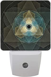 Night Light Sacred Geometry Led Light Lamp for Hallway, Kitchen, Bathroom, Bedroom, Stairs, DaylightWhite, Bedroom, Compact