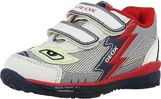 Geox B TODO Boy A, Chaussures Bébé Marche, Argent (White/silverc0007), 26 EU