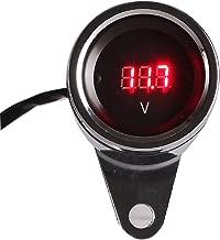 INNOGLOW Motorcycle Tachometer Red LED Digital Odometer Gauge DC12V Voltmeter for Motorcycle ATV Dirt Pit Bike