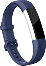 for Fitbit Alta HR and Alta Bands, Hotodeal Soft Accessory Replacement Strap Wristbands with Metal Buckle Clasp for Fitbit Alta/Alta HR Smart Fitness Tracker,Navy Blue,Large