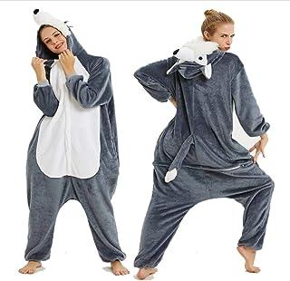 FZH Schlafanzug Wolf Cartoon Tier Kigurumi Pyjamas One Piece Hooded Jumpsuits Cosplay Kostüm Frau Herren Kleidung Tiere Pijamas Onesie