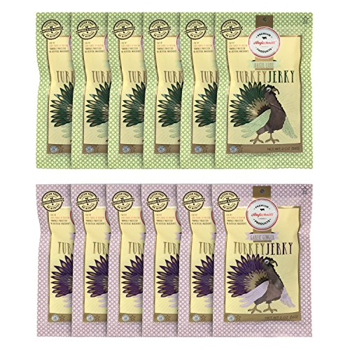 Aufschnitt Turkey Jerky 12 Variety Packs Of 2 Oz Each |...