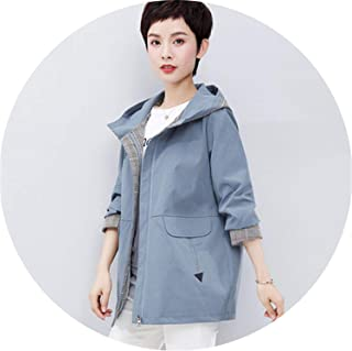 Middle-Aged Mother Spring Autumn Jacket Hooded 2019 New Casual Women's Windbreaker Women Coats X507