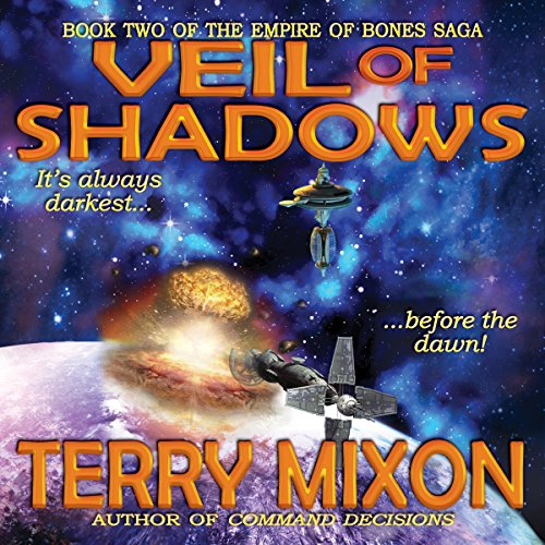 Veil of Shadows     Book 2 of The Empire of Bones Saga              By:                                                                                                                                 Terry Mixon                               Narrated by:                                                                                                                                 Veronica Giguere                      Length: 8 hrs and 51 mins     1 rating     Overall 5.0