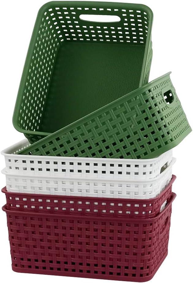 A4 File Document Letter Tray Organizer Baskets 5 Packs Gloreen Grey Plastic Storage Basket