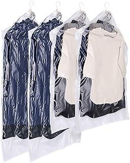 ZZL Sacs à aspirateur Suspendu Sacs étincelants Sceller Pompe à la Main Sacs de vêtement Costume Sac de Compression 4 Pack...