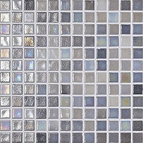 e-ceramica 8436028847273 Mosaico Cristal Gris Iridiscentes