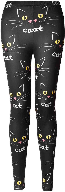Rantanto Soft Cat Kitten Meow Funny Ladies Leggings