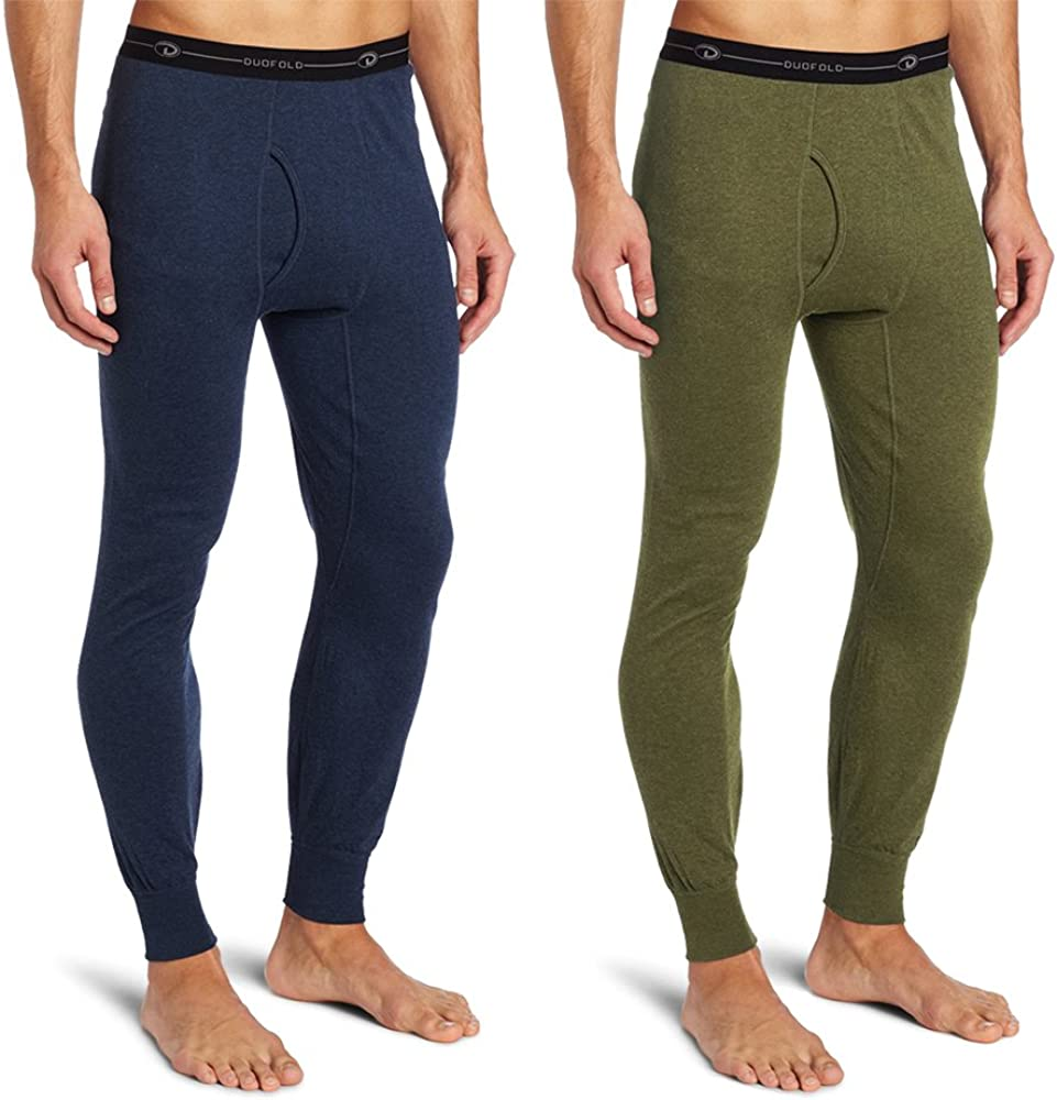 Duofold KMO3 Men's Double Layer Thermal Pant S 1 Blue Jean + 1 Olive Heather