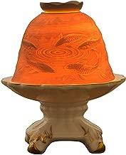 Aliyyah-Perfect Home Decor 3D Classic Porcelain Handmade Tealight Candle Holder Lantern Fish&Lotus