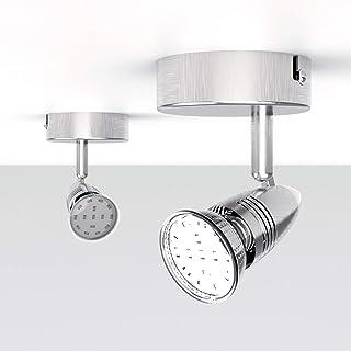 NEUE DAWN Plafonnier 1 spot LED, applique murale gu10 ampoule 3W 280Lm, lampe spot plafond intérieur/extérieur, luminaire ...