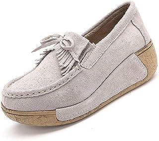 [OceanMap] タッセル 船型底ナースシューズ レディース ダイエットシューズ 厚底スニーカー 姿勢矯正 ダイエット 美脚 軽量 ローファー ウォーキングシューズ 看護師 作業靴 歩きやすい 疲れない 婦人靴 厚底シューズ