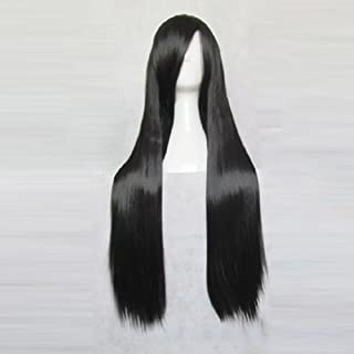 Final Fantasy VII: Advent Children Tifa Lockhar Black 80cm Straight Cosplay Wig + Free Wig Cap (black)