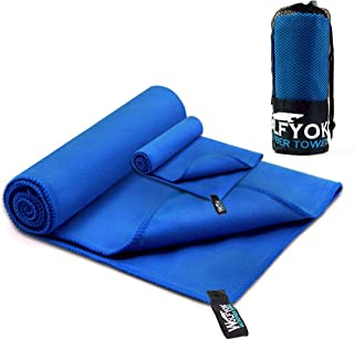 867acff062c Wolfyok 2 Pack Microfiber Travel Sports Towel XL Ultra Absorbent and Quick  Drying Swimming Towel (