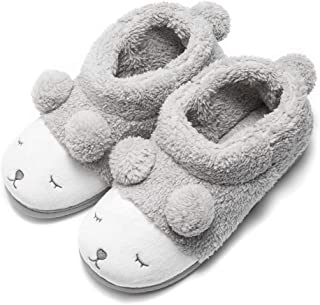 GaraTia Warm Indoor Slippers for Women Fleece Plush Bedroom Winter Slippers