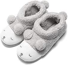 GaraTia Warm Indoor Slippers for Women Fleece Plush Bedroom Winter Slippers